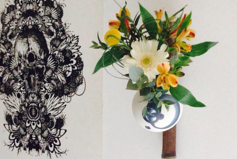 Atelier-Sebastien-de-Groot-Ikebana-Vase-Porcelaine-Suspendre